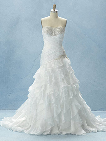 Disney fairy tale weddings by alfred angelo 2012 gown collection jasmine wedding dress junglespirit Gallery