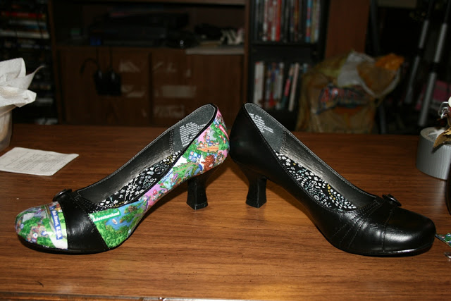 DIY Disney Park Map Shoes