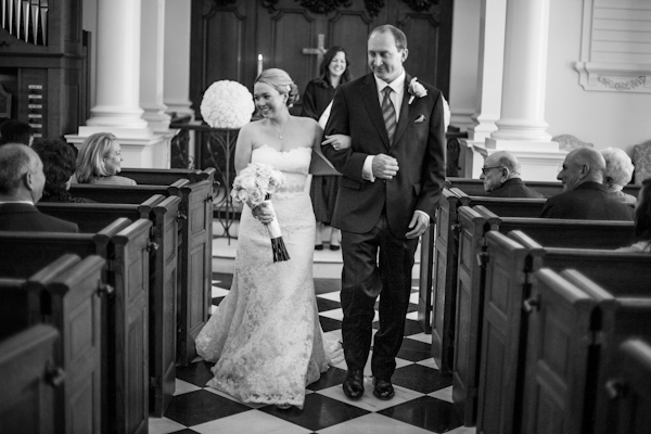 {Real Weddings} Jessica and Eric's Romantic Church Wedding