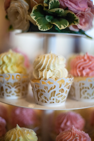 Pink lace cupcakes