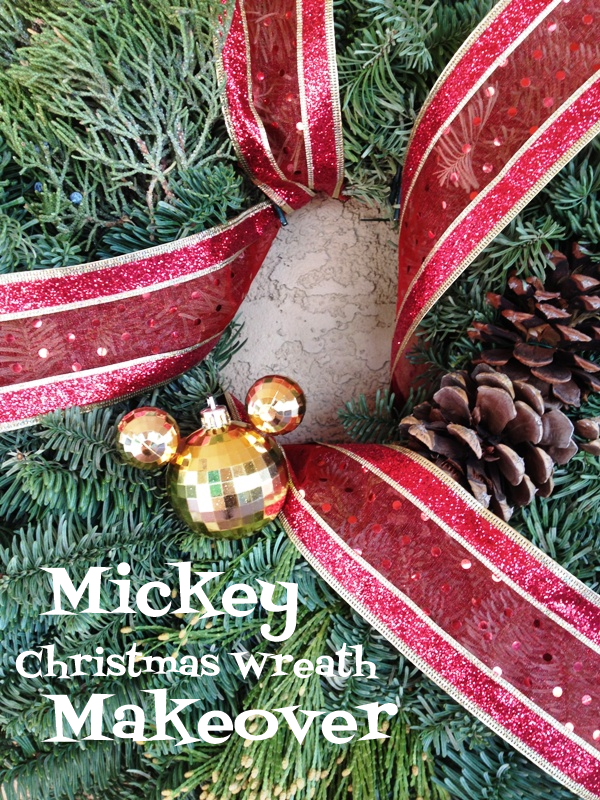 Mickey Christmas Wreath Makeover // Inspired By Dis