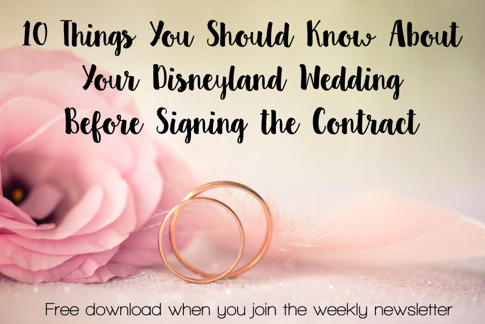 Considering a Disneyland Wedding