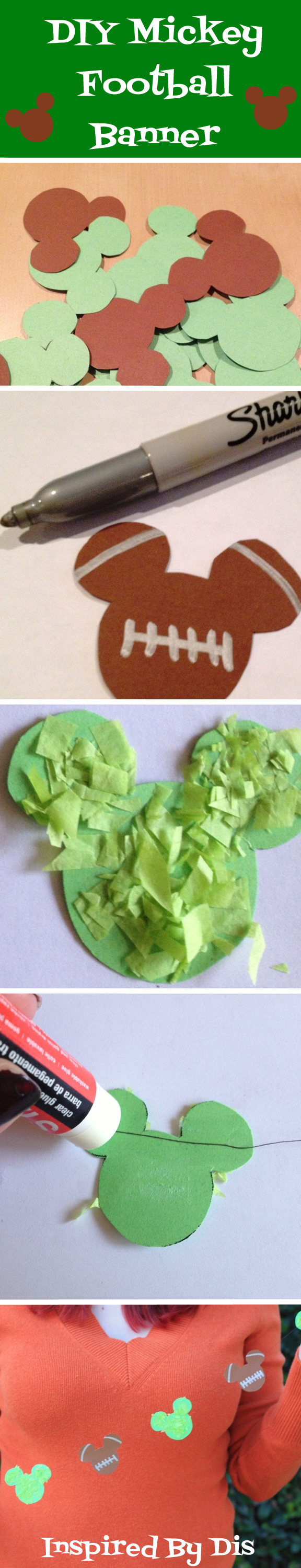 diy mickey football banner for your big game party inspired by dis