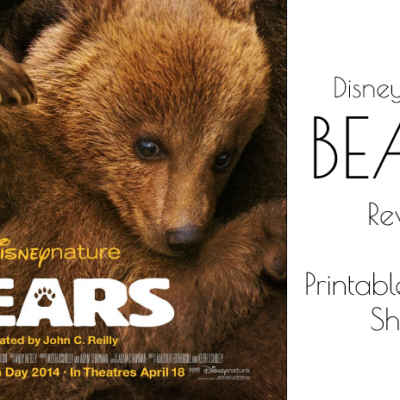 Disneynature's BEARS Review and Free Activity Sheets