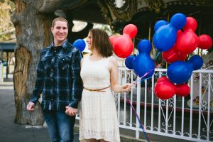 Katie and Jon's Theme Park Engagement Session