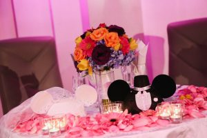 Paty and Travis' At Home Disney Wedding
