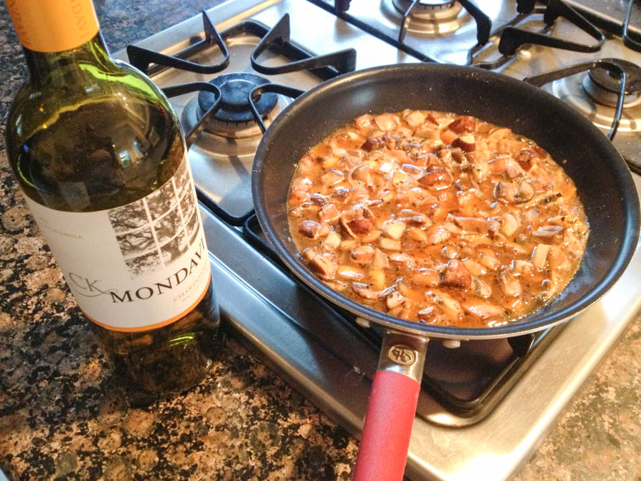 CK Mondavi Chardonnay Mushroom Sauce for Grilled Chicken