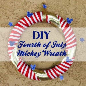 DIY Fourth of July Mickey Wreath