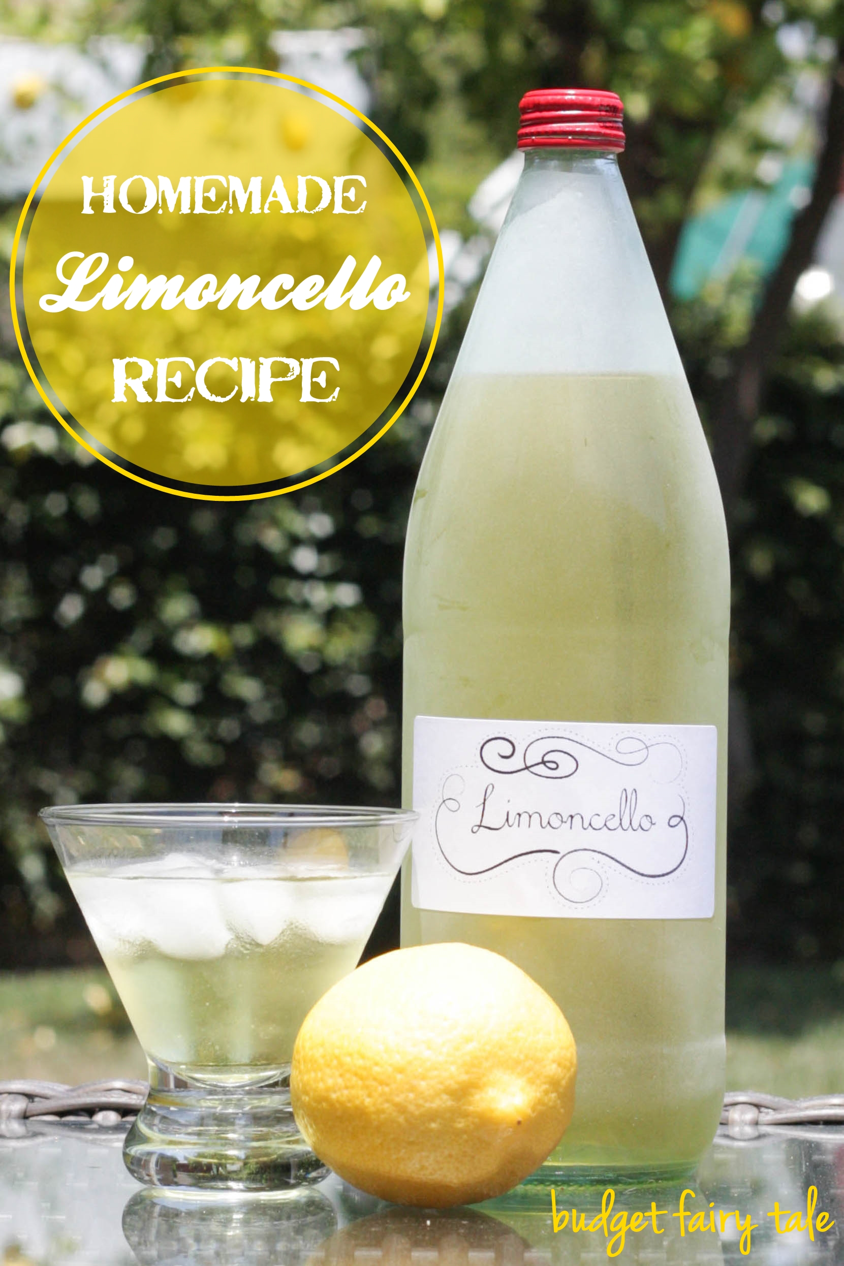 Homemade Limoncello Recipe