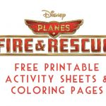 Planes: Fire & Rescue Free Printable Activity Sheets