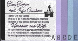 Keri & Tony's Disneyland Ticket Book Wedding Invitations