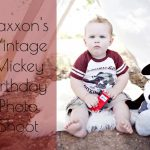 Jaxxon's Vintage Mickey Birthday Photos