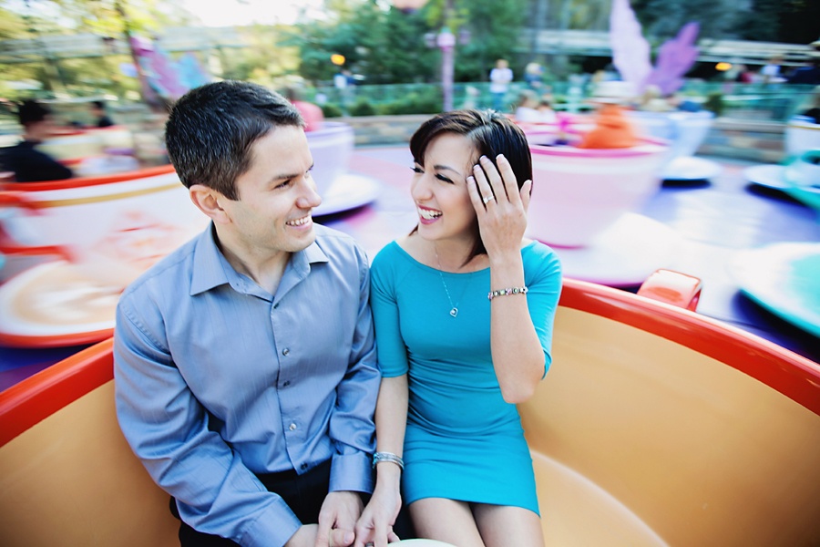 Casual Disneyland Engagement Photos // White Rabbit Photo Boutique