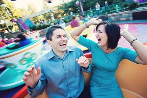 Mandi and Steve's Classy and Casual Disneyland Engagement Photos