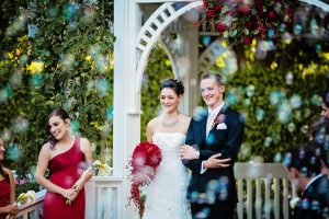 Dene and Dylan's Romantic Red Disneyland Wedding