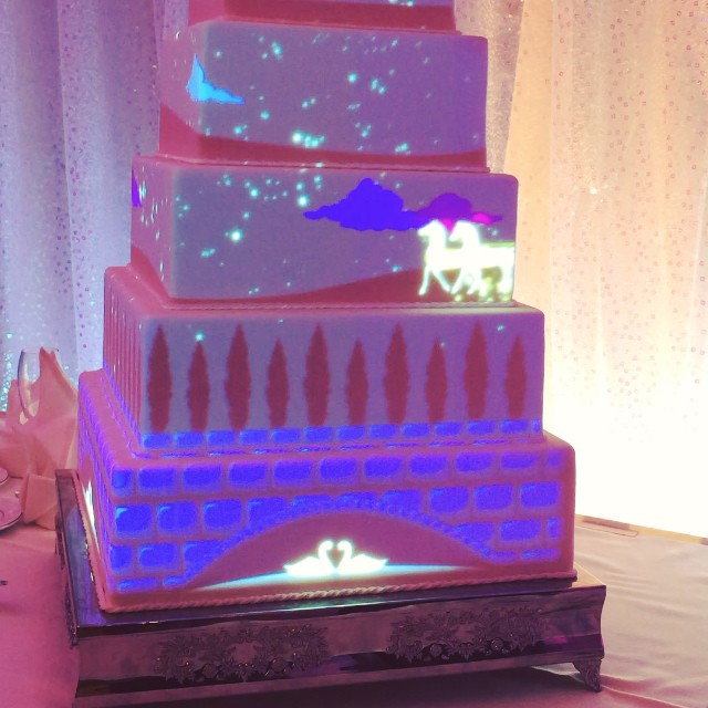 you can now have a light show projected on your disney wedding cake this fairy tale life. Black Bedroom Furniture Sets. Home Design Ideas