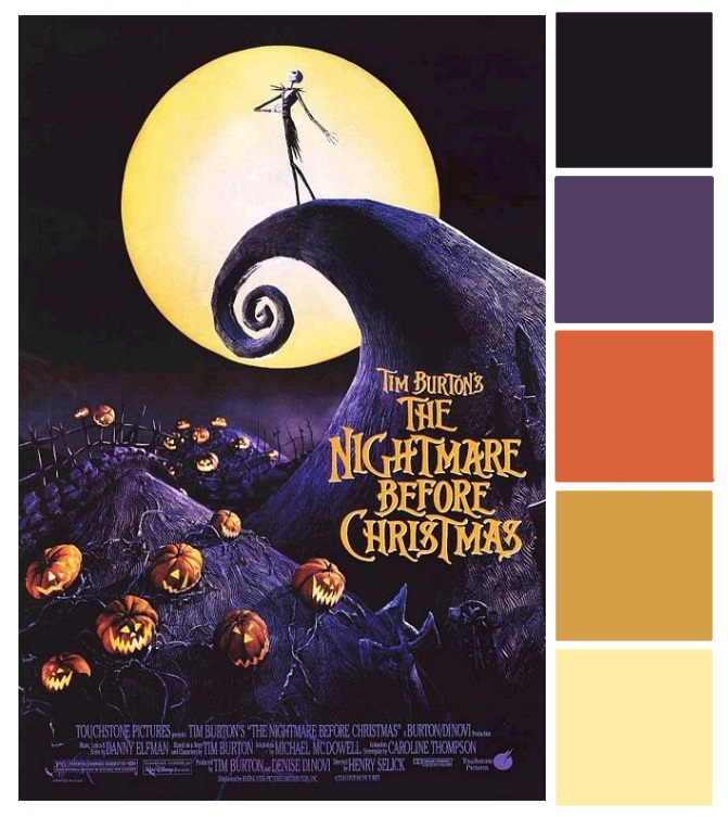 Poster Palette - Nightmare Before Christmas - Inspired By Dis