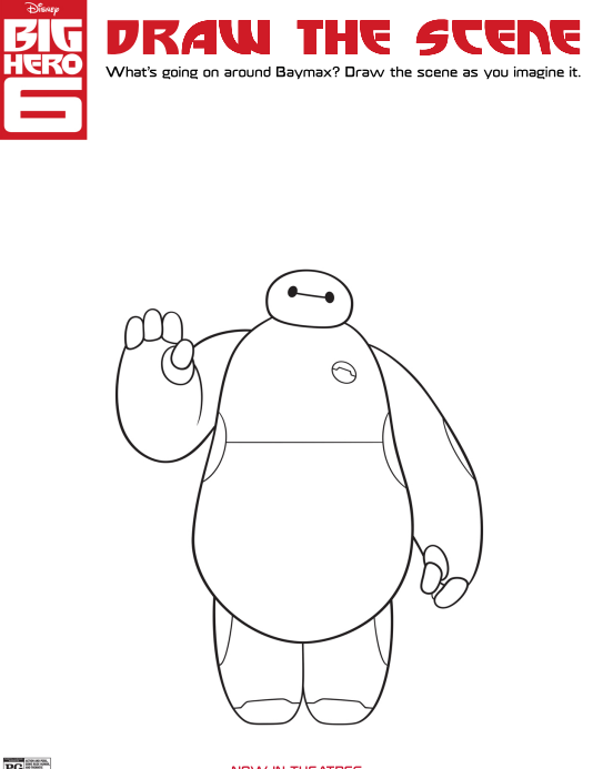 Click Here To Open And Print The PDF BIG HERO 6 Coloring Pages
