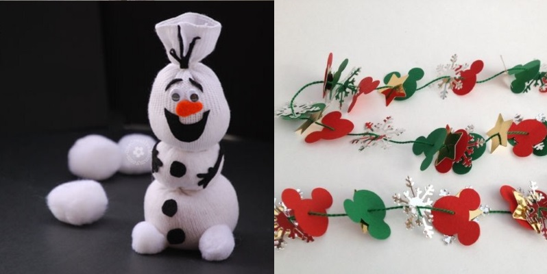 10 fun disney christmas crafts for kids this fairy tale life for Fun christmas crafts to do at home