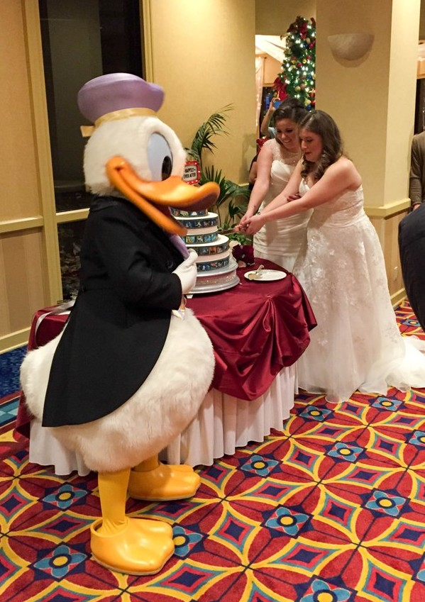 "A True ""Guest"" Post - Renee and Diana's Red and White Winter Disneyland Wedding"