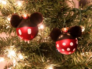 DIY Mickey and Minnie Ornaments