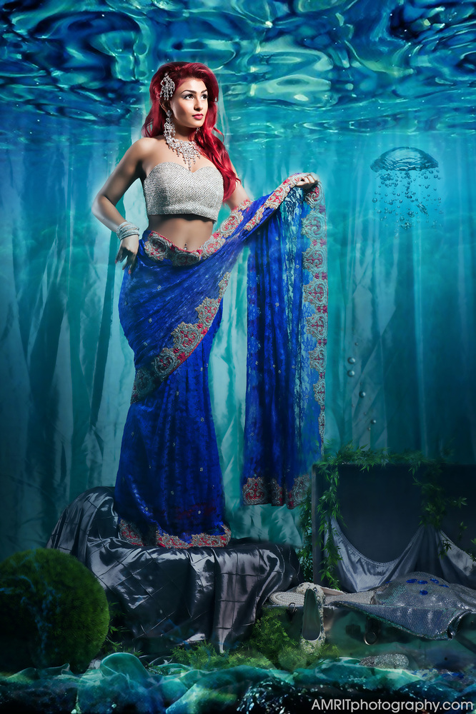 Ariel - Disney Princesses Reimagined as Indian Brides // Photo by Amrit Grewal