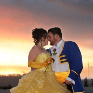 Toni and Eric's Beauty and the Beast Costume Wedding