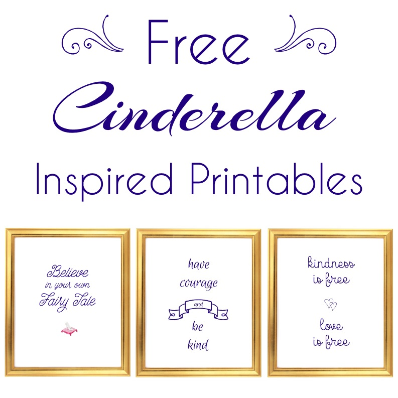 Free Cinderella Inspired Printables