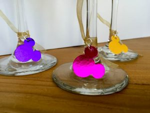 DIY Mickey Wine Glass Charms