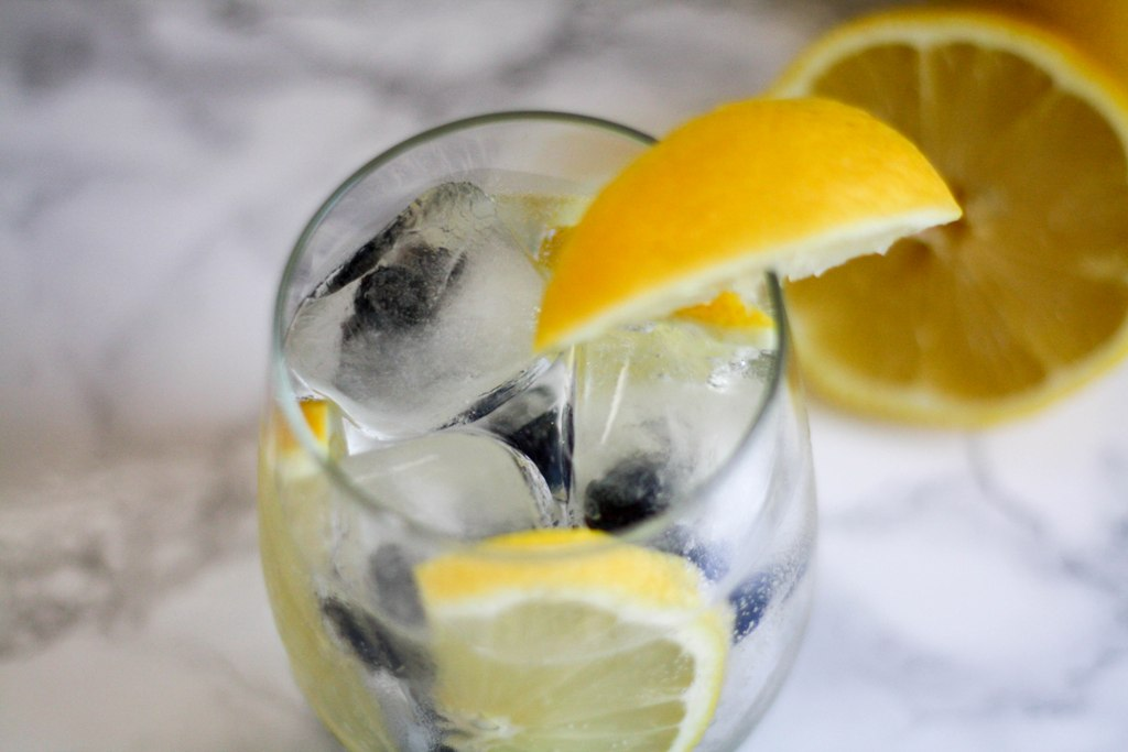 Blueberry Lemonade Rum Spritzer - This Fairy Tale Life