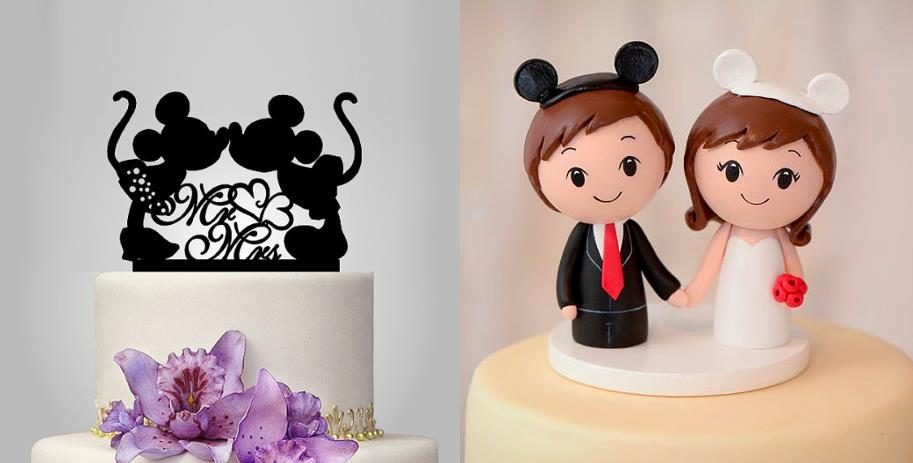 disney wedding cake topper