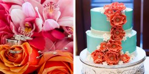 Coral, Pink, and Teal Disney Wedding Inspiration Board