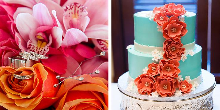 Coral, Pink, and Teal Disney Wedding Inspiration Board - This ...