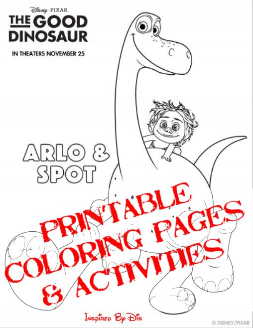 THE GOOD DINOSAUR Activity Sheets and Coloring Pages This Fairy