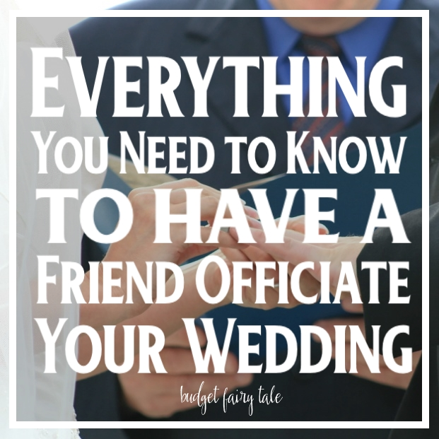 Everything You Need to Know About Having a Friend Officiate Your Wedding