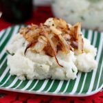 Gorgonzola Mashed Potatoes with Caramelized Onions
