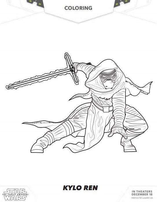 Force Character Design From Life Drawing Pdf Free : Star wars the force awakens coloring pages and activity