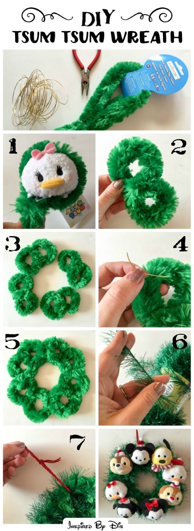 DIY Tsum Tsum Wreath