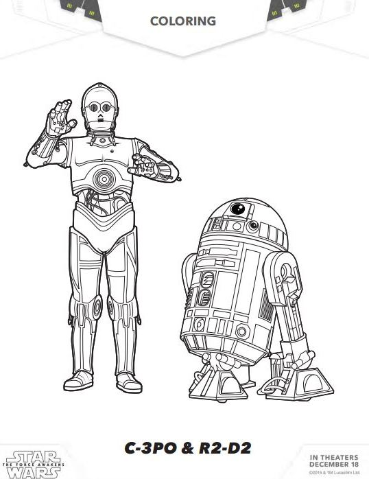 STAR WARS THE FORCE AWAKENS Coloring Pages and Activity