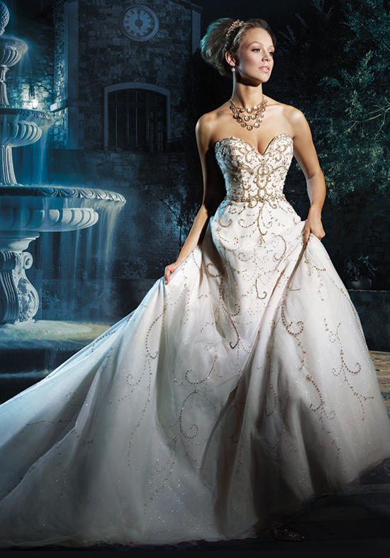 2016 alfred angelo disney fairy tale wedding gowns for Cinderella inspired wedding dress