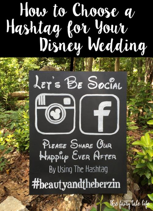 Disney hashtag wedding