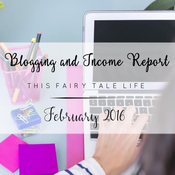 Blogging and Income Report - February 2016