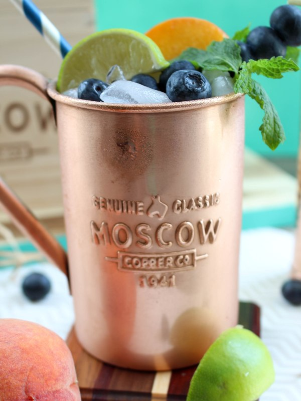 Peach Blueberry Moscow Mule Recipe
