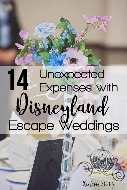 14 Unexpected Expenses with Disneyland Escape Weddings