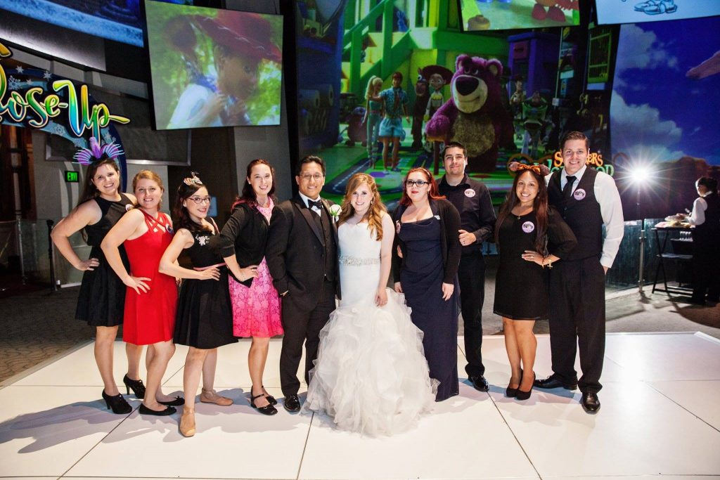 "A True ""Guest"" Post: Michelle and George's Animation Building Disneyland Wedding"