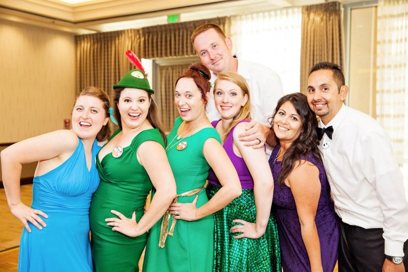 Molly and Evan's Colorful DisneyBound Disneyland Wedding