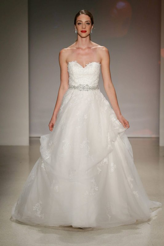 Your first look at the 2017 disney wedding gowns from for Fairytale inspired wedding dresses