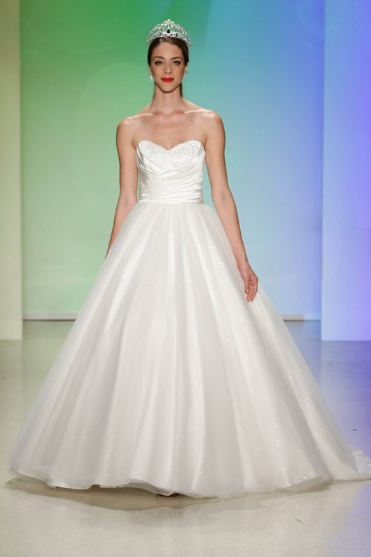 Your first look at the 2017 disney wedding gowns from for Wedding dress disney collection
