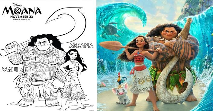 MOANA Coloring Pages And Printables