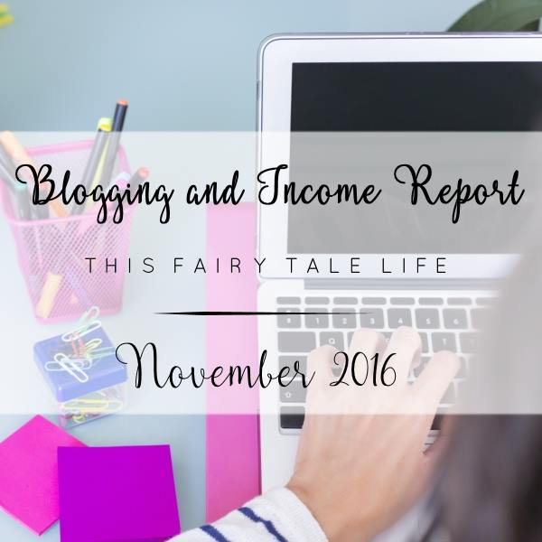 Blogging and Income Report - November 2016